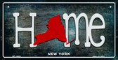 New York Home State Outline Novelty Bicycle Plate BP-12023