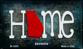 Georgia Home State Outline Novelty Magnet M-12001