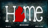 Michigan Home State Outline Novelty Magnet M-12013