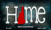 New Hampshire Home State Outline Novelty Magnet M-12020