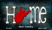 West Virginia Home State Outline Novelty Magnet M-12039