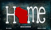 Wisconsin Home State Outline Novelty Magnet M-12040