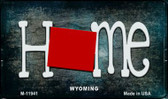 Wyoming Home State Outline Novelty Magnet M-12041