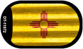 New Mexico Corrugated Flag Novelty Dog Tag Necklace DT-11972