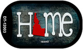 Idaho Home State Outline Novelty Dog Tag Necklace DT-12003