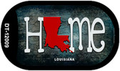 Louisiana Home State Outline Novelty Dog Tag Necklace DT-12009