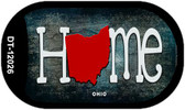 Ohio Home State Outline Novelty Dog Tag Necklace DT-12026