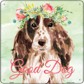 Cocker Spaniel Good Dog Novelty Square Sign SQ-381