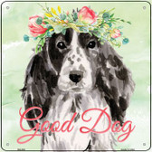 Black Cocker Spaniel Good Dog Novelty Square Sign SQ-382
