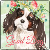 Black King Charles Spaniel Good Dog Novelty Square Sign SQ-385
