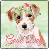 Jack Russell Good Dog  Novelty Square Sign SQ-402