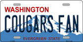 Cougars Fan Washington Novelty Metal License Plate LP-12058