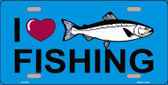 I Love Fishing Metal Novelty License Plate LP-3872