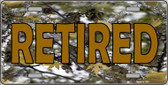 Retired Camouflage Metal Novelty License Plate LP-3938