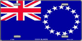 Cook Island Flag Metal Novelty License Plate LP-3999