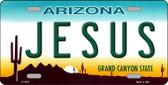 Jesus Arizona Novelty State Background Metal License Plate LP-4263