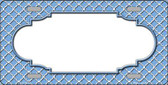 Light Blue White Quatrefoil Center Scallop Metal Novelty License Plate LP-4306