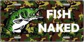 Fish Naked Metal Novelty License Plate