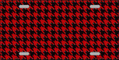 Red Black Houndstooth Metal Novelty License Plate LP-4565