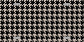Tan Black Houndstooth Metal Novelty License Plate LP-4571