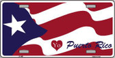 I Love Puerto Rico Metal Novelty License Plate LP-468