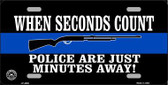 Police Are Just Minutes Away Metal Novelty License Plate