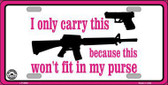 I Carry This Gun Metal Novelty License Plate