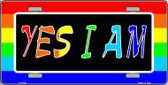 Yes I Am Metal Novelty License Plate LP-4729