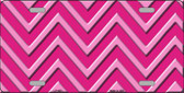 Pink Light Pink Chevron Monochromatic Metal Novelty License Plate LP-4951