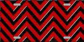 Red Black Chevron Metal Novelty License Plate LP-5037