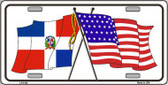United States Dominican Republic Crossed Flags Metal Novelty License Plate Sign LP-5125
