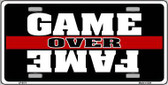 Game Over Fame Metal Novelty License Plate LP-5171