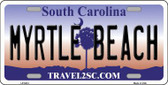 Myrtle Beach South Carolina Metal Novelty License Plate LP-5414
