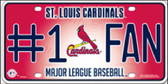 Cardinals Fan Metal Novelty License Plate