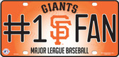 Giants Fan Metal Novelty License Plate