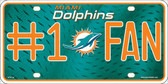 Miami Dolphins Fan Metal Novelty License Plate