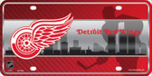 Detroit Red Wings Metal Novelty License Plate