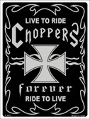 Live To Ride Metal Novelty Parking Sign