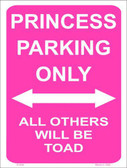 Princess Parking Only Metal Novelty Parking Sign