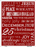 Red Holiday Wrap Metal Novelty Parking Sign