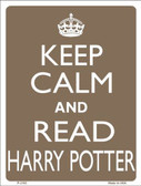 Keep Calm And Read Harry Potter Metal Novelty Parking Sign P-2195