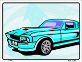 Classic Car Mustang Metal Novelty Parking Sign P-346