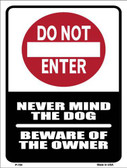 Do Not Enter Metal Novelty Parking Sign P-700