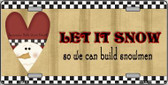 Let it Snow Metal Novelty License Plate XMAS-16