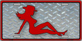 Cowgirl Mud Flap Novelty Metal License Plate