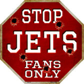 Jets Fans Only Metal Novelty Octagon Stop Sign BS-197
