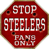 Steelers Fans Only Metal Novelty Octagon Stop Sign BS-208