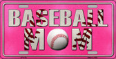 Baseball Mom Novelty Metal License Plate