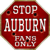 Auburn Fans Only Metal Novelty Octagon Stop Sign BS-304
