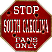 South Carolina Fans Only Metal Novelty Octagon Stop Sign BS-327